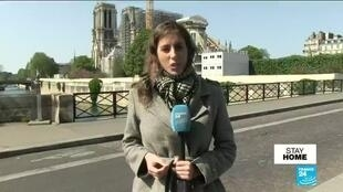 2020-04-15 06:09 First the flames, then the plague: Notre-Dame marks fire anniversary under virus lockdown