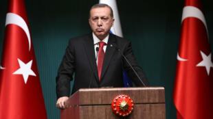Le président turc Recep Tayyip Erdogan, le 1er décembre 2014 à Ankara.
