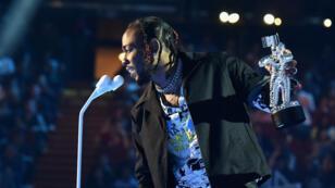 Kendrick Lamar, grand gagnant des MTV VMA 2017, le 27 août 2017 à Inglewood.