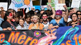 Greta Thunberg encabezó la manifestación más multitudinaria en Montreal, Canadá, con la presencia de más de 500.000 personas. El 27 de septiembre de 2019.