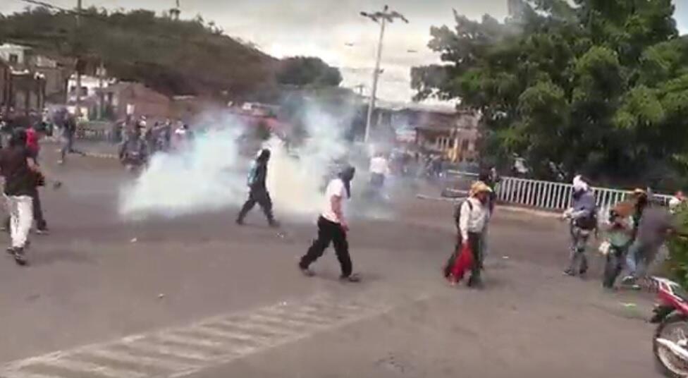 Las calles de la capital de Honduras se convirtieron en un campo de batalla el 15 de septiembre de 2019.