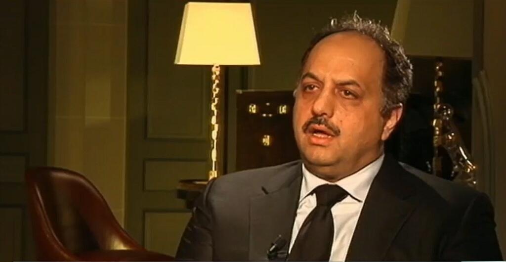 - صورة ملتقطة من الفيديو لخالد بن محمد العطية وزير خارجية قطر