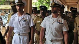 Les deux militaires italiens, Massimiliano Latorre et Salvatore Girone