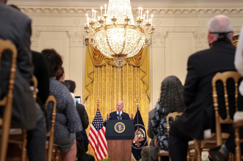 Le président Joe Biden s'exprime à la Maison Blanche le 8 septembre 2021