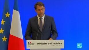 2020-06-08 16:44 REPLAY - Christophe Castaner, ministre de l'Intérieur, s'exprime sur les violences policières en France