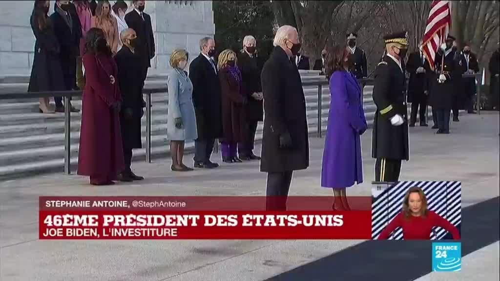 """2021-01-20 20:48 Investiture de Joe Biden aux Etats-Unis : """"Un retour à la normale"""", la fin d'un """"cauchemar national"""""""