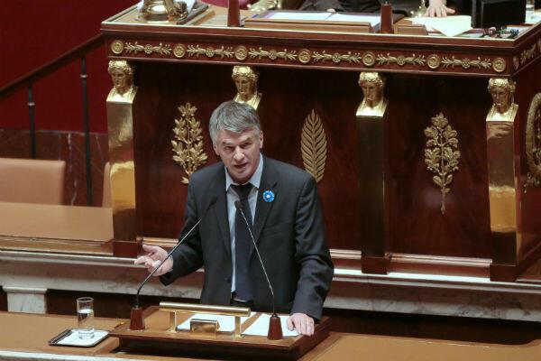 Philippe Folliot à l'Assemblée, le 25 novembre 2015.
