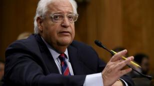 السفير الأمريكي المعين في إسرائيل ديفيد فريدمان أمام أعضاء مجلس الشيوخ في 16 شباط/فبراير 2017