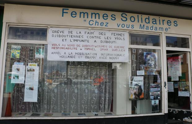 Les locaux de l'association Femmes solidaires, à Arcueil, où logent les grévistes.
