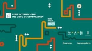 """Con esta imagen la Feria del Libro de Guadalajara, de México, comunicó en redes que este 2020 """"será completamente virtual""""."""