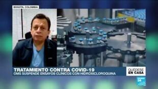 El médico Carlos Eduardo Pérez habla de por qué la OMS suspendió la cloroquina.