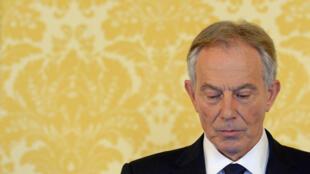 Tony Blair lors de son conférence de presse, le 6 juillet 2016.