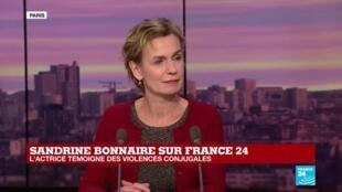 """2019-11-25 18:33 Sandrine Bonnaire : """"Il y a 20 ans j'ai été agressée par mon compagnon"""""""