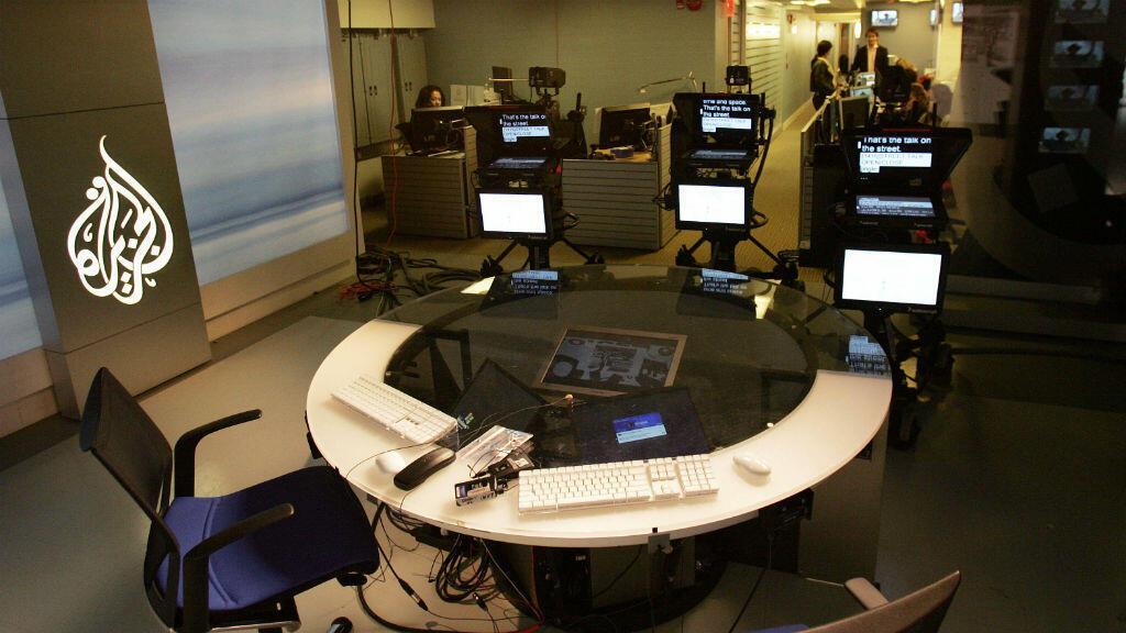 Un plateau de la chaîne anglophone d'Al-Jazira, à Washington. (archives)