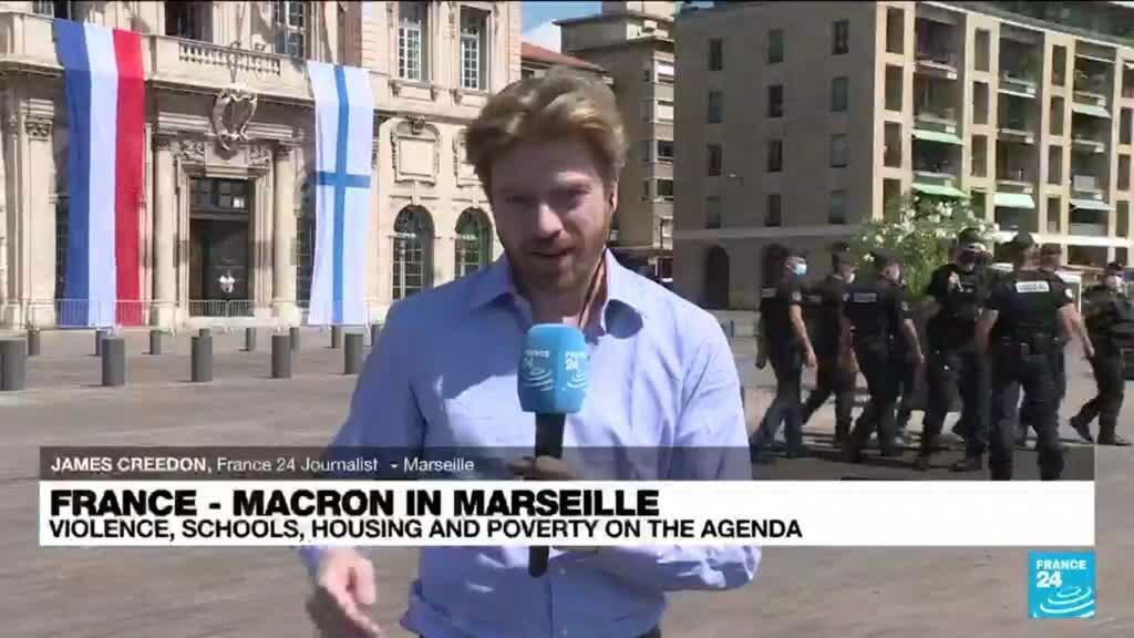 2021-09-01 13:01 Macron in Marseille: Violence, schools, housing and poverty on the agenda