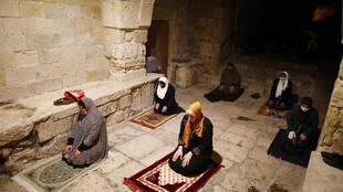 Israel Muslims pray during Ramadan