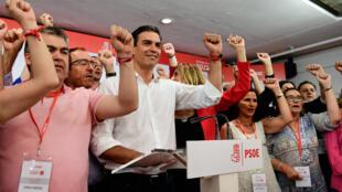 Pedro Sanchez a été élu secrétaire général du parti socialiste espagnole dimanche 21 mai.