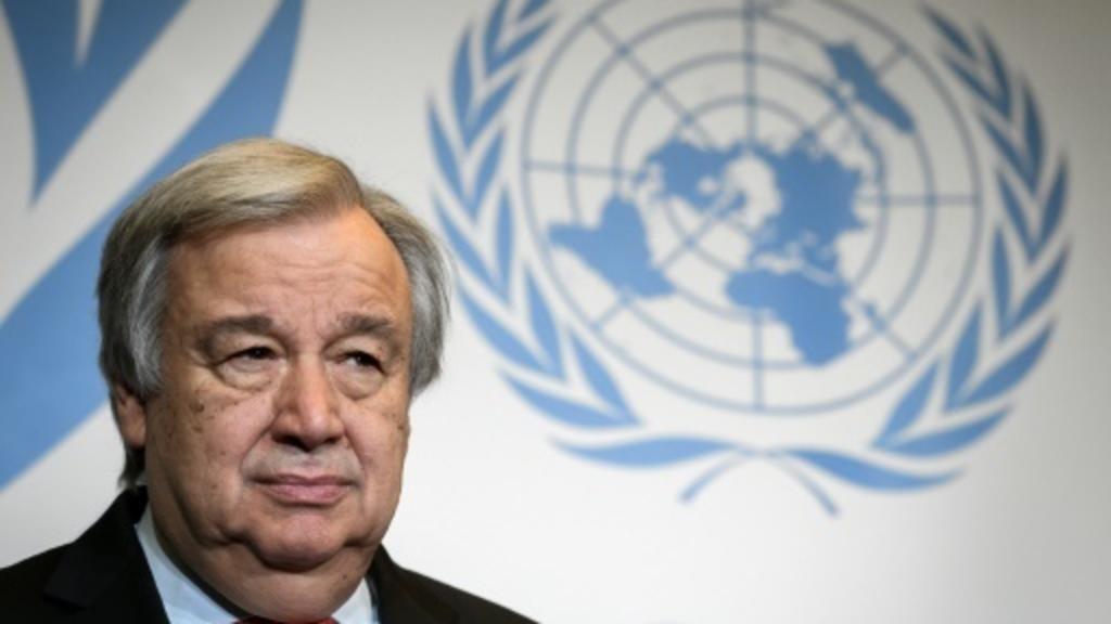 الأمين العام للأمم المتحدة أنطونيو غوتيريس في جنيف في 24 مايو/أيار 2018.