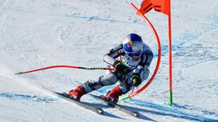 L'Américaine Mikaela Shiffrin lors de la manche de Coupe du monde de ski alpin à Bansko, en Bulgarie le 25 janvier 2020.
