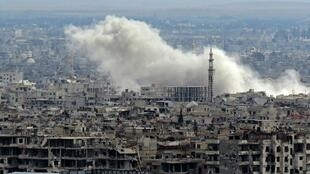 قصف على الغوطة الشرقية في 27 شباط/فبراير 2018