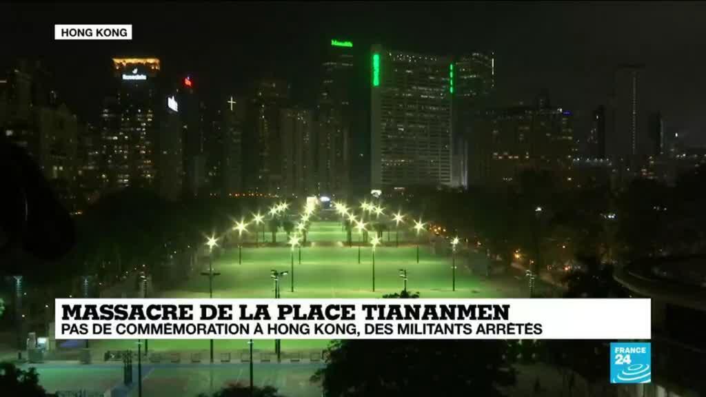 2021-06-04 16:09 Massacre de la place Tiananmen : les commémorations empêchés par la police à Hong Kong