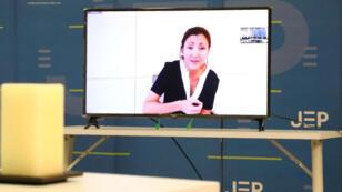Ingrid Betancourt declara ante los tribunales de justicia transicional