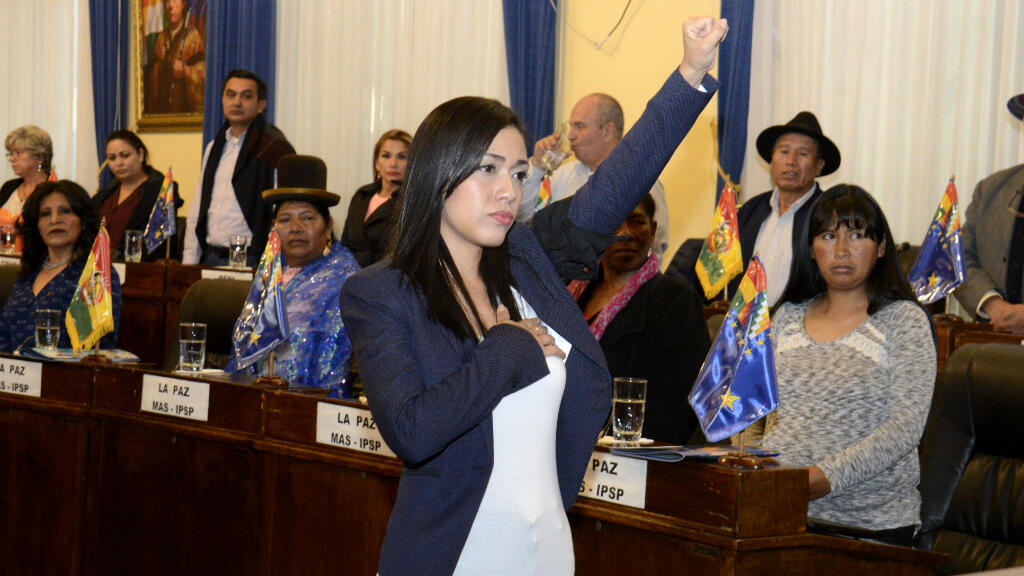Adriana Salvatierra, Senadora y actual presidenta de la  Cámara de Senadores de Bolivia con sólo 29 años, ha destacado las bondades para su país tras el mandato de Evo Morales.