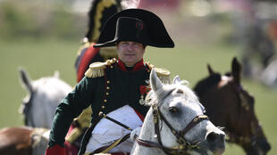 Frank Samson, en Napoléon, lors de la reconstitution de la bataille de Ligny, le 14 juin 2015.