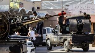 مقاتلون ليبيون في جنوب طرابلس/ أبريل 2019
