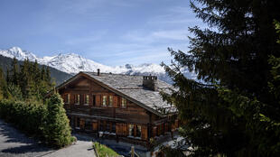 A photo taken on May 7, 2020 shows the wooden chalet Helora, owned since 2014 by Britain's Prince Andrew, Duke of York and his ex-wife Sarah Ferguson in the Alpine resort of Verbier, Switzerland