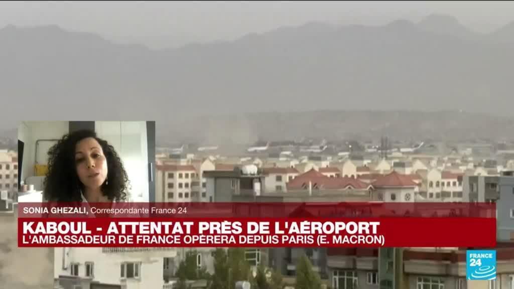 """2021-08-26 17:09 Attentat près de l'aéroport de Kaboul : """"Il y avait un risque élevé d'attentat aux portes de l'aéroport"""""""
