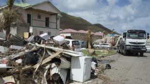 Les rues de l'île de Saint-Martin, vendredi 15 septembre.