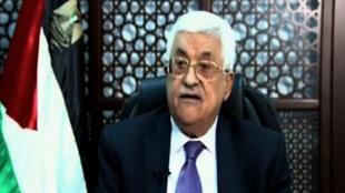 Le président palestinien Mahmoud Abbas s'est exprimé, mercredi 14 octobre, à la télévision pour la première fois depuis le début des violences en Israël et en Cisjordanie, il y a deux semaines.