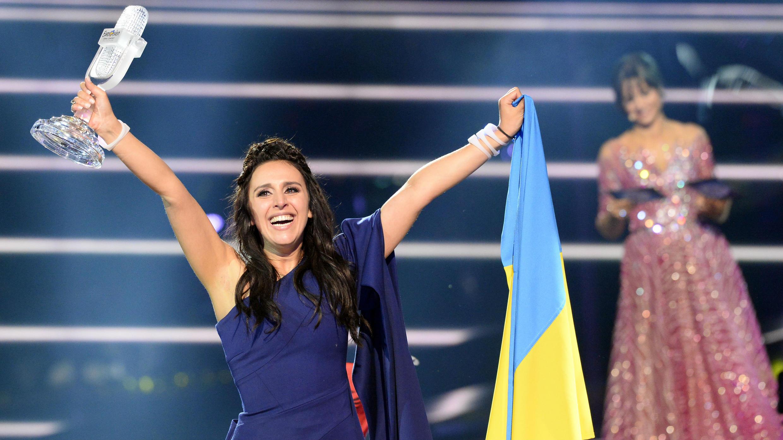 La chanteuse ukrainienne Jamala lors de la finale de l'Eurovision à Stockholm, le 14 mai 2016.