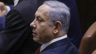 Israeli Prime Minister Benjamin Netanyahu attends the swearing-in ceremony at the Knesset in Jerusalem on October 3, 2019.