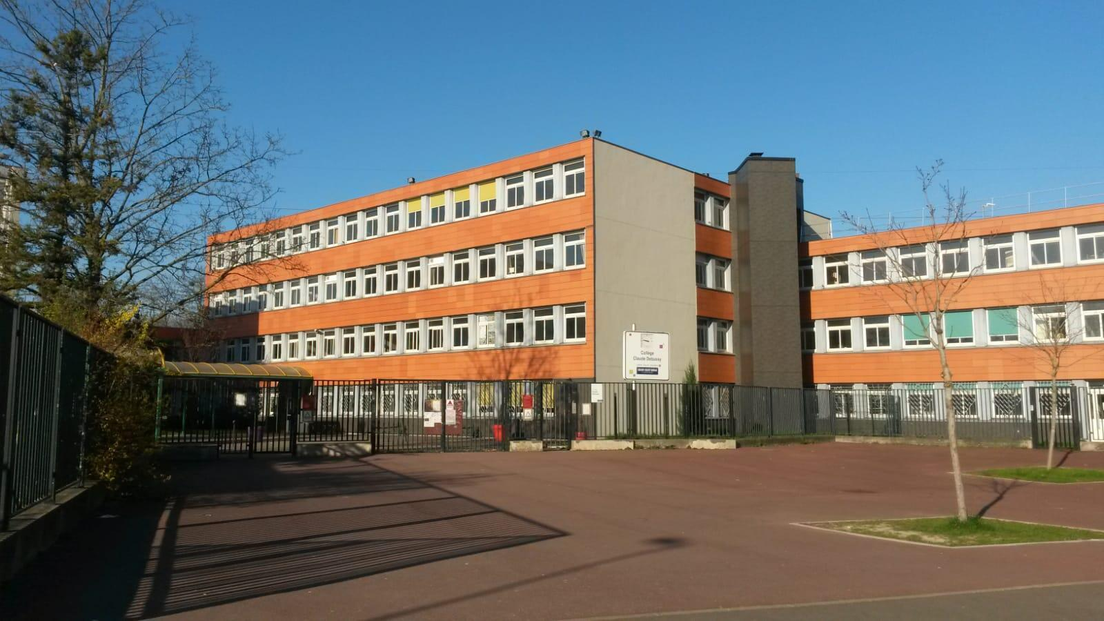 The Collège Claude Debussy, a college in Aulnay-sous-Bois, one of the many establishments to have reported an alarming spike in infections.