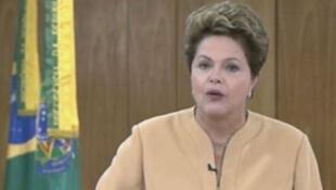 La présidente brésilienne Dilma Rousseff, vendredi soir