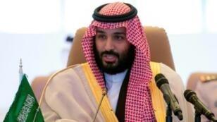 صورة نشرها الديوان الملكي السعودي لولي العهد الأمير محمد بن سلمان في الرياض في 26 ت2/نوفمبر 2017