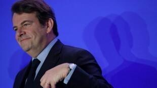 تيري سولير، مرشح اليمين للانتخابات الرئاسية الفرنسية فرانسوا فيون. 13 فبراير/شباط 2017