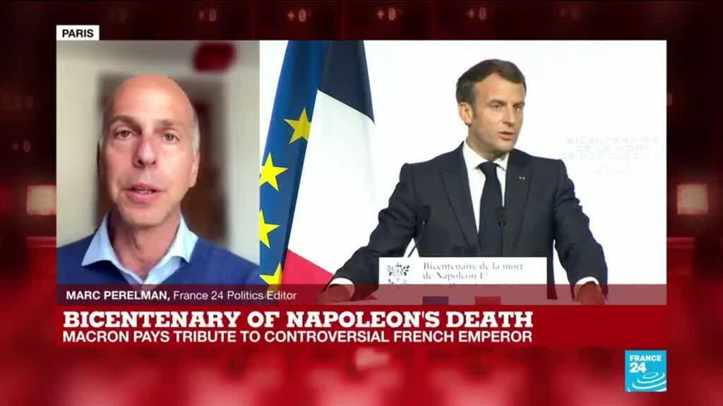 2021-05-05 17:09 Bicentenary of Napoleon's death: Macron walks tightrope with Bonaparte commemoration