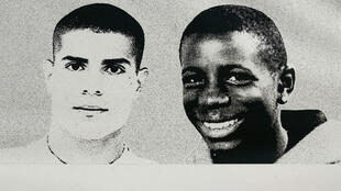"""Dix ans après la mort de Zyed Benna (à gauche) et Bouna Traoré (à droite), deux policiers comparaissent à partir de lundi à Rennes pour """"non-assistance à personne en danger""""."""