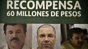 """""""El Chapo"""" escorté par des forces de l'ordre, le 22 février 2014, à Mexico."""