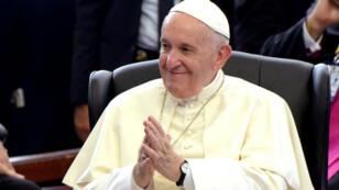 El papa Francisco durante una reunión en Maputo, Mozambique, el 5 de septiembre de 2019.