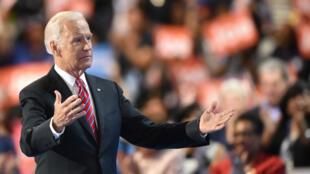 L'ancien vice-président américain, Joe Biden, lors des Conventions nationales démocrates, le 27 juillet 2016