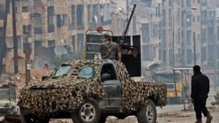 Les forces démocratiques syriennes dans la région d'Alep, en décembre 2016.