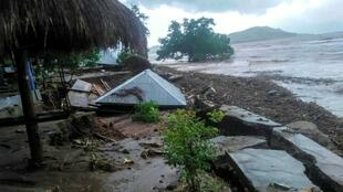 Daños causados por las inundaciones en Lembata (Indonesia) el 5 de abril de 2021