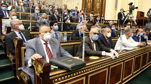 "Egypt's parliament voted Monday in favour of a deployment of troops in light of ""threats"" from the west"