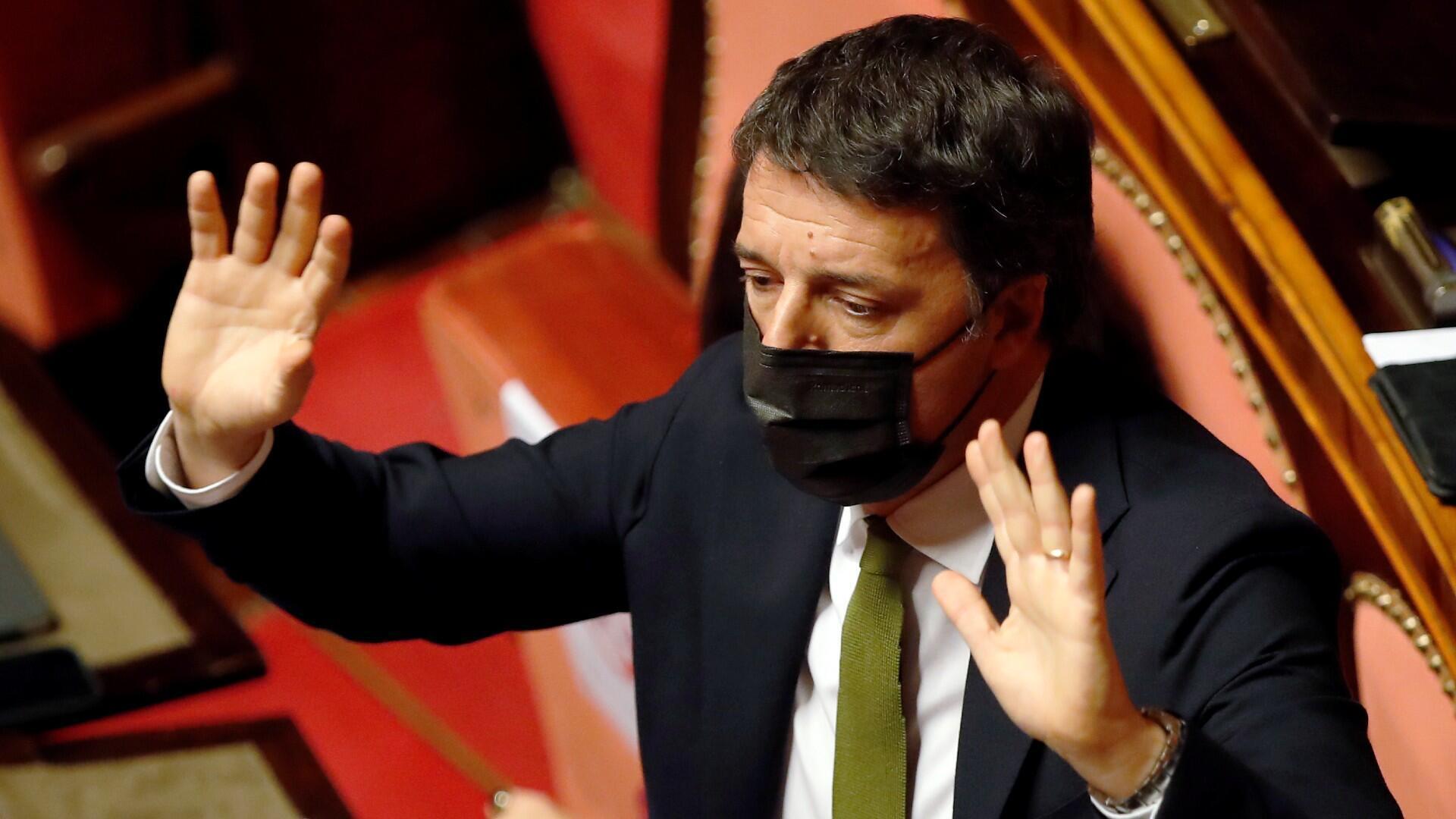 Matteo Renzi, el líder de Italia Viva, durante una sesión parlamentaria del 19 de enero de 2020 en Roma.