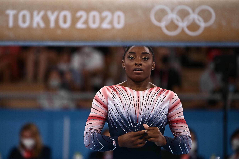 La estrella estadounidense de la gimnasia Simone Biles en Tokio, Japón, el 3 de agosto de 2021