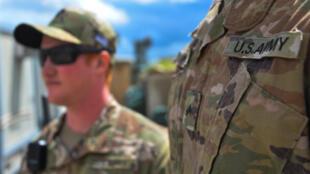 جنديان أميركيان في الموصل في 30 آذار/مارس 2020